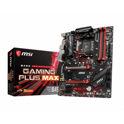 MSI B450 GAMING PLUS MAX DDR4 DVI HDMI M.2 COM AM4