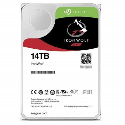 14 TB 3.5 SEAGATE 7200RP 256MB ST14000VN0008 IRONWOLF NAS