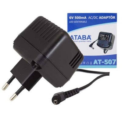 ATABA AT-507 6V 500MA ADAPTÖR SIEMENS-PHILIPS 3.5*1.35 MM