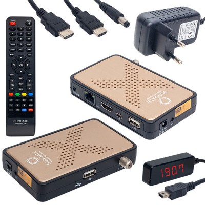 SUNGATE VIPBOX GOLD XL IP TV FULL HD MİNİ UYDU ALICISI